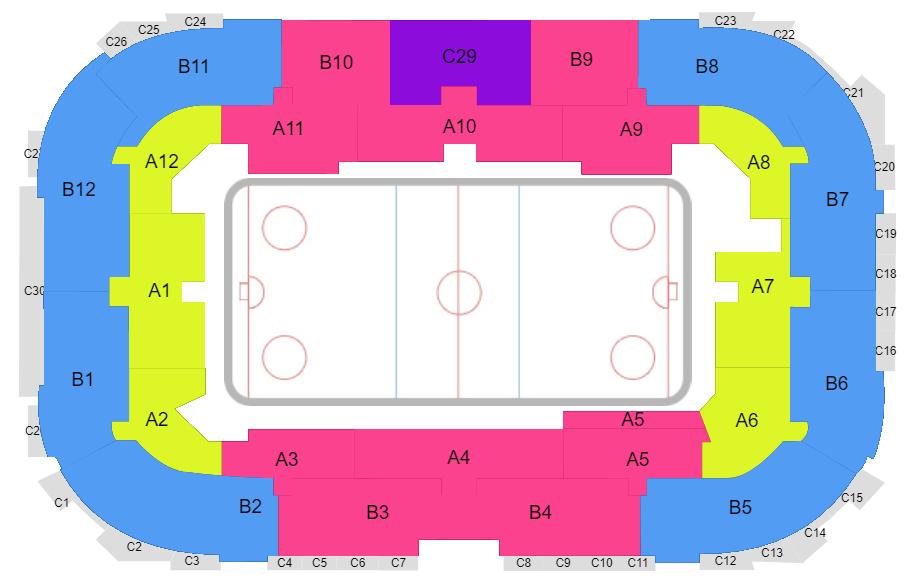 План Ondrej Nepela Arena. Bratislava, Slovakia